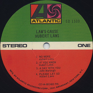 Hubert Laws / Laws' Cause label