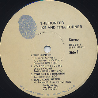 Ike & Tina Turner / The Hunter label