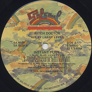 Instant Funk / Witch Doctor label