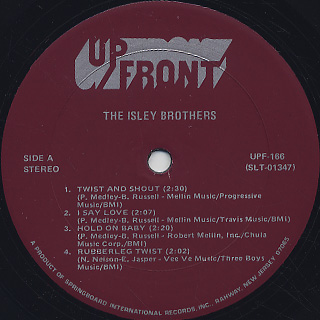 Isley Brothers / S.T. label