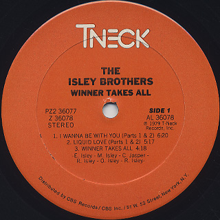 Isley Brothers / Winner Takes All label