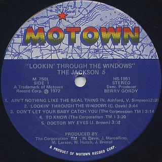 Jackson 5 / Lookin' Through The Windows label
