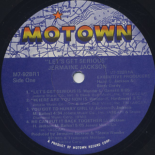 Jermaine Jackson / Let's Get Serious label