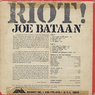 Joe Bataan / Riot! back