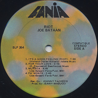Joe Bataan / Riot! label