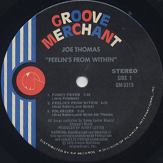 Joe Thomas / Feelin's From Within label
