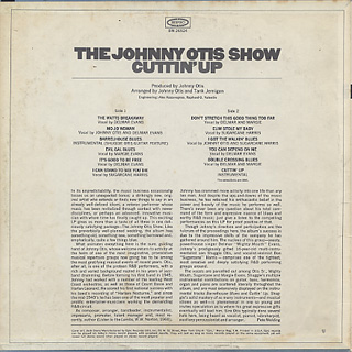 Johnny Otis Show / Cuttin' Up back