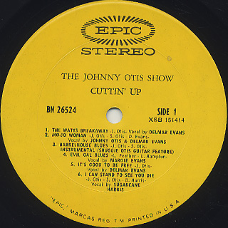 Johnny Otis Show / Cuttin' Up label