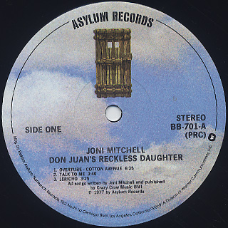 Joni Mitchell / Don Juan's Reckless Daughter label