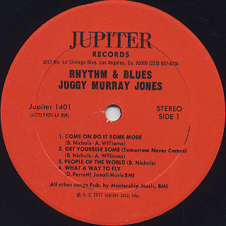 Juggy Murray Jones / Rhythm & Blues label