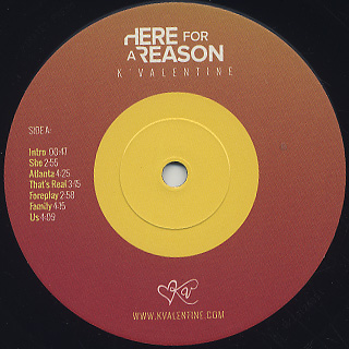 K'Valentine / Here For A Reason label