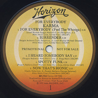 Karma / For Everybody label