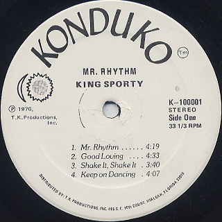 King Sporty / Mr. Rhythm label