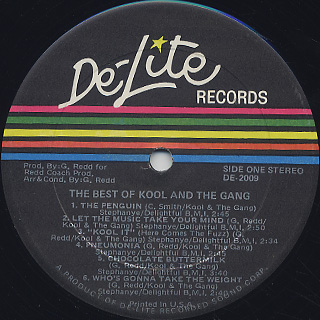 Kool and The Gang / The Best Of label