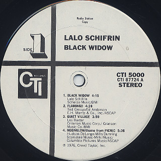 Lalo Schifrin / Black Widow label