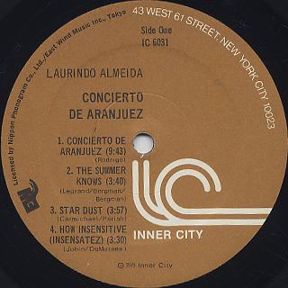 Laurindo Almeida / Conceirto De Aranjuez label