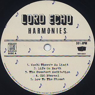 Lord Echo / Harmonies (LP) label