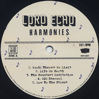 Lord Echo / Harmonies (LP) label