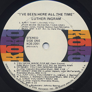 Luther Ingram / I've Been Here All The Time label
