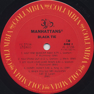 Manhattans / Black Tie label