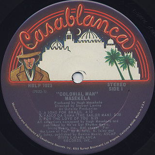 Masekela / Colonial Man label