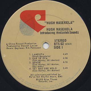Masekela / Introducing Hedzoleh Soundz label