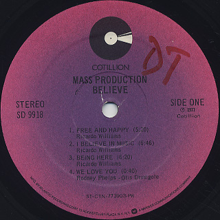 Mass Production / Believe label