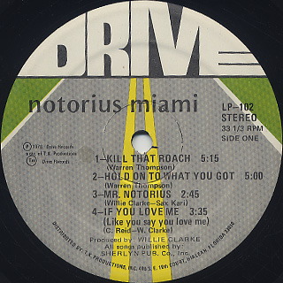 Miami / Notorius Miami label