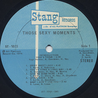 Moments / Those Sexy Moments label