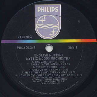 Mystic Moods Orchestra / English Muffins label