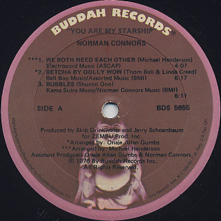 Norman Connors / You Are My Starship label