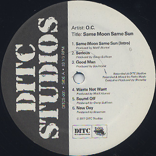O.C. / Same Moon Same Sun - 1st Phase label