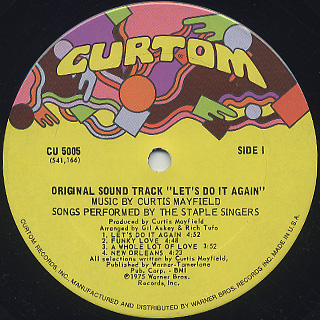 O.S.T.(Curtis Mayfield) / Let's Do It Again label