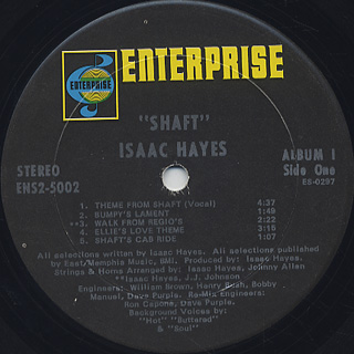 O.S.T.(Isaac Hayes) / Shaft label