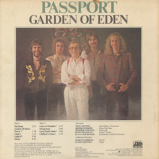 Passport / Garden Of Eden back