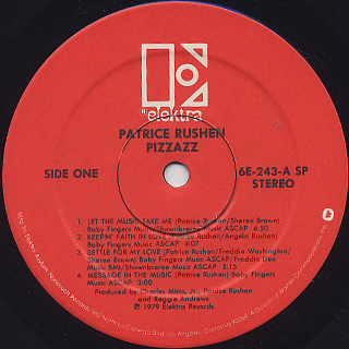 Patrice Rushen / Pizzazz label