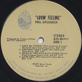 Phil Upchurch / Lovin' Feeling label