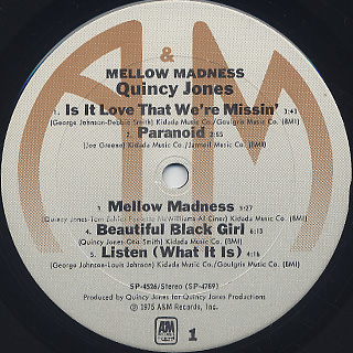 Quincy Jones / Mellow Madness label