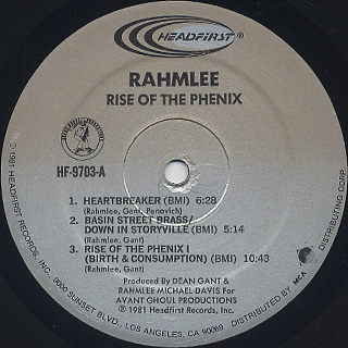 Rahmlee / Rise Of The Phenix label