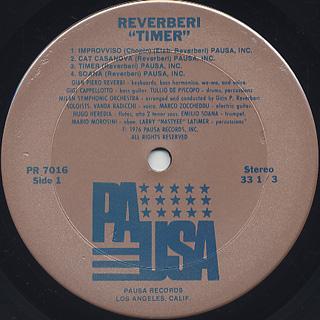 Reverberi / Timer label