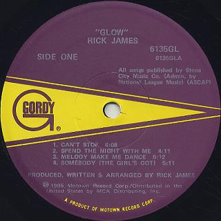 Rick James / Glow label