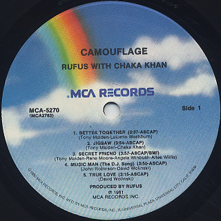 Rufus with Chaka Khan / Camouflage label