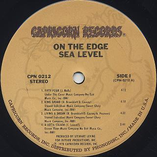 Sea Level / On The Edge label
