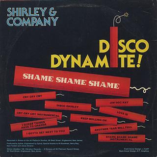 Shirley And Company / Shame Shame Shame back