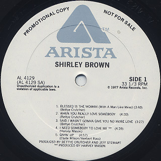 Shirley Brown / S.T. label