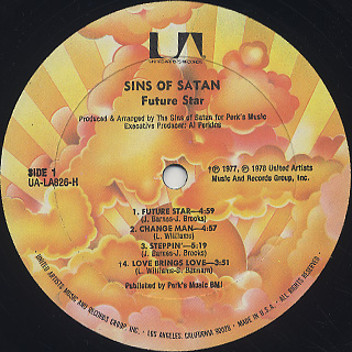 Sins Of Satan / Future Star label