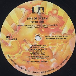 Sins Of Satan / Future Star label