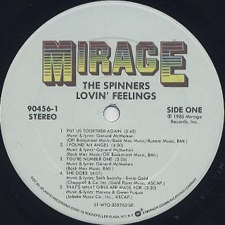 Spinners / Lovin' Feelings label
