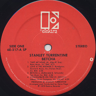 Stanley Turrentine / Betcha label