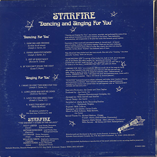 Starfire / Dancing and Singing For You back